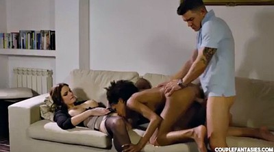 Interracial, Wife threesome