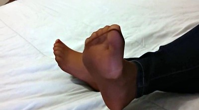 Nylon tease, Foot tease, Pantyhose foot