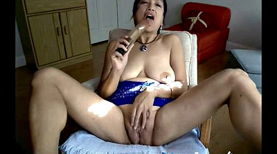 Asian granny, Asian webcam, Striptease, Asian dildo, Webcam mature