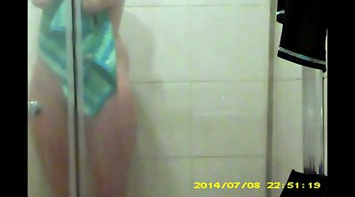 Hidden shower, Voyeur shower, Friend, Sister friend, A virgin, Sister shower