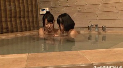 Full, Asian lesbian, Bathing