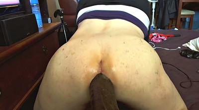 Training, Train, Black cock, Big dildo, Riding dildo