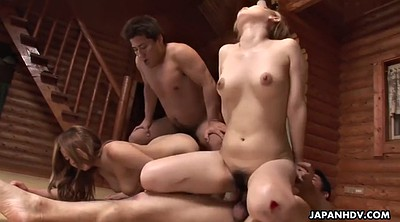 Foursome, Japanese big, Japanese tits, Japanese friend, Busty japanese, Japanese riding
