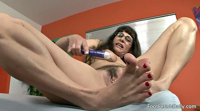Silk, Mature foot, Mature feet, Silk foot, Feet solo