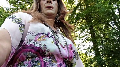 Crossdresser, Outdoor gay, Crossdresser solo