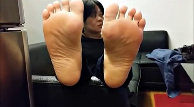 Asian foot, Sole, Mature foot, Asian feet