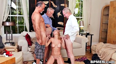 Teen gangbang, Old beauty