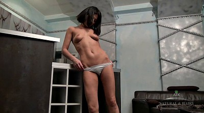 Hairy solo masturbation