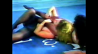 Beautiful mature, Wrestling, Pantyhose lesbian, Fight