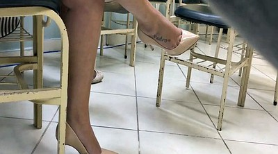 High heels, Tatoo, Dangling, Candid feet