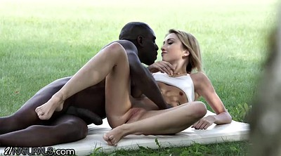 Black, Shaved, Public couple, Deep blowjob, Anal public