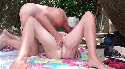Mature creampie, Outdoors, Beach creampie