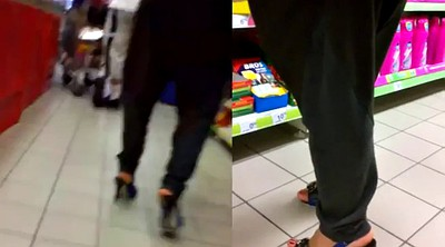 Milf foot, Candid, Shoes