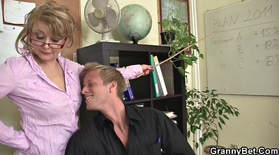 Wife ride, Old & young, Milf office