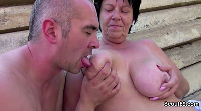 Outdoor, Grandma, Bbw old, German granny, Fuck granny
