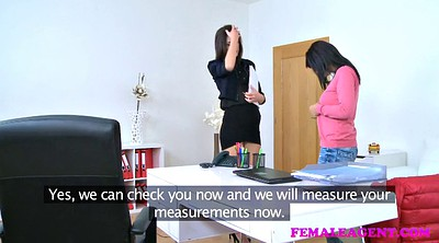 Czech casting, Strap on, Czech orgasm, Female agent, Sofa, Lesbian strapon