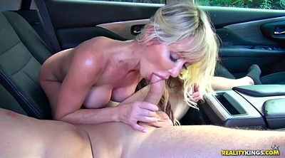 Swallow, Mature handjob
