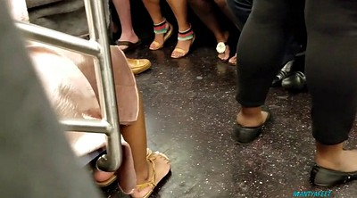 Foot compilation, Train, Candid foot, Candid