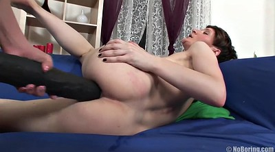 Lesbian strapon anal, Ass gape, Anal toying