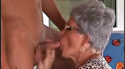 Old young, German granny, Mature outdoor