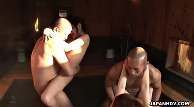Japanese group, Sauna, Girl fucks guy, Japanese ass, Japanese licking, Japanese hairy