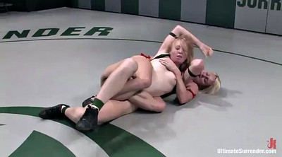 Wrestling, Lesbian fight, Toy, Strapon lesbian, Fight, While
