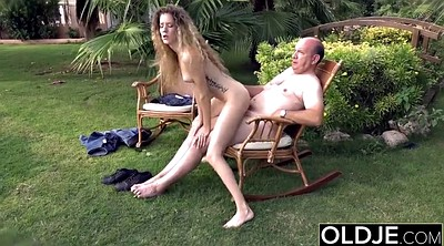 Riding cock, Old man fuck