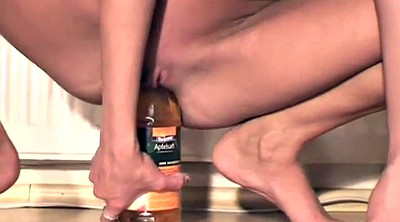 Young, Amateur wife masturbation, Bottle, Wife dildo, Young girls