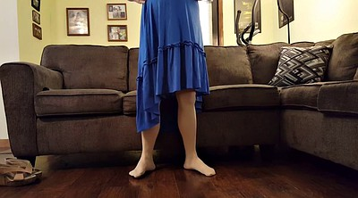 Blue dress, Crossdresser