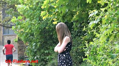 Public street, Young girl, Undressing, Public outdoor street