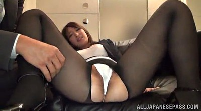 Asian office, Pantyhose fuck