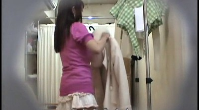 Asian girl, Waitress, Change, Japanese voyeur, Changing, Asian voyeur