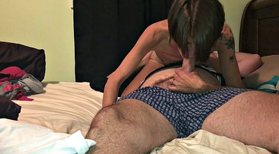 Oral, Oral creampie, Hairy wife