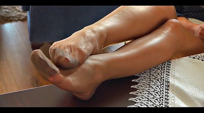 Nylon foot, Nylon foot fetish, Cfnm, Fetish nylon