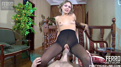Black pantyhose, Nylon blowjob, Nylon fuck