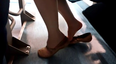 Nylons, Nylon foot, Foot feet, Candid, Shoeplay, Candid feet
