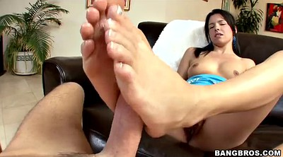 Footjob, Lick foot, Footjob pov, Feet licking