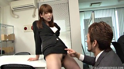 Office, Lick pussy, Asian office, Officer
