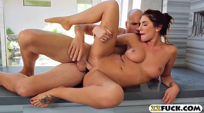 August ames, Brunette, Womanizer, Room