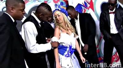 Hardcore gangbang, Ebony handjob, Blonde big tits, Black on blondes