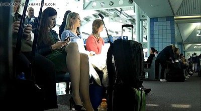 Nylon foot, Pantyhose feet, Nylon feet, Pantyhose leg, Airport