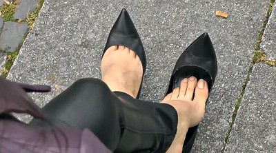 Heels, Leather, Stiletto heels