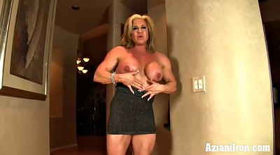 Big clit, Muscle girl, Strong, Solo girl