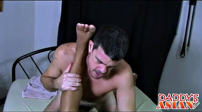 Tickling, Tickle, Asian daddy, Asian old, Tickled, Old daddy gay
