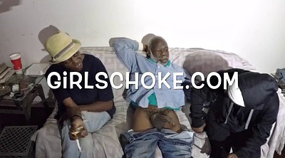 Ebony granny, Young pussy, Young mom