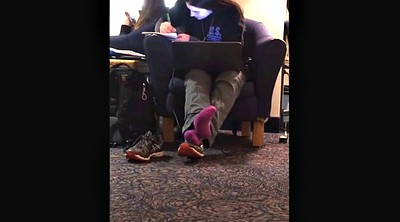 Foot, Candid, Sock, Library, Candid feet