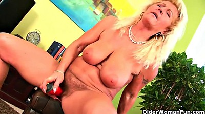 Granny masturbation, Love, Gaping pussy, Pussy wet, Blonde granny