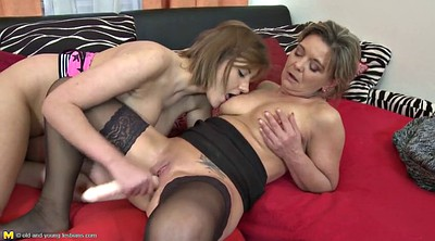 Mom and daughter, Mom daughter, Mature double, Young daughter, Mature dildo