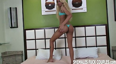 Shemale threesome, Amateur shemale