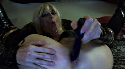 Crossdress, Sexy dildo, Sucking dildo